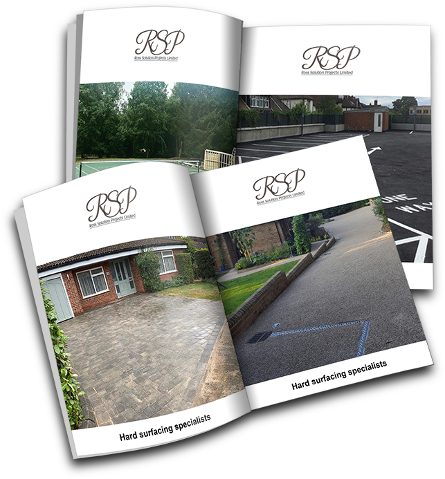 hard surfacing and landscaping brochures