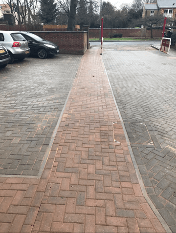 block paving at care home in Finchley