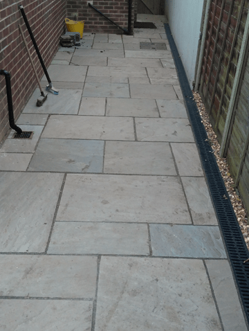 patio and path Radlett